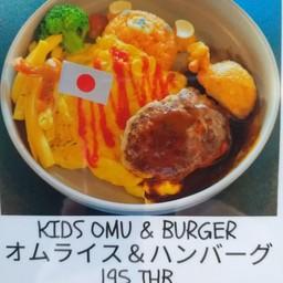 Kids Omu-rice & Hamburger