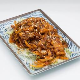หมูผัสซอสโคชูจัง Korean Spicy Stir-Fried Pork