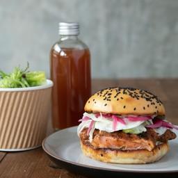 Salmon Burger Set