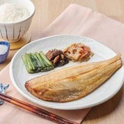 ปลาชิมาฮอกเกะย่างถ่าน