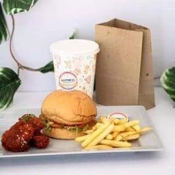 Happiness Burger and cheese ตลาดอาม่ามอลล์( หลังยูเซนเตอร์มข.)