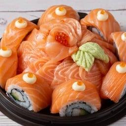 โอกิ ซูชิ ปั๊ม ปตท. ร่มเกล้า โอกิ ซูชิ สดทุกคำ คุ้มทุกความอร่อย