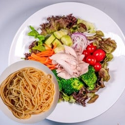 Chicken Thigh Salad Spaghetti