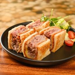 Minced Beef Cutlet Sandwich