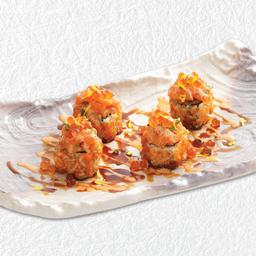 ข้าวห่อไส้แซลมอนคลุกซอสพริก