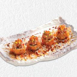 ข้าวห่อไส้ทูน่าคลุกซอสพริก