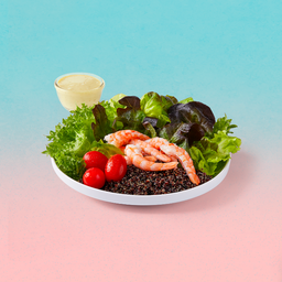 Prawn and quinoa Salad with Spicy Dressing
