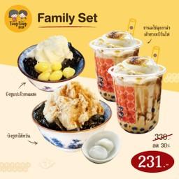 [Promotion]  ลด30%-  Family Set บิงซูชาไต้หวัน บิงซูแปะก๊วยนมสด ชานมไข่มุกอาม่าเต้าฮวยเบิร์นไฟ 2 แก้ว