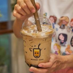กาแฟ + นมฮอกไกโด + ไข่มุกลาวา