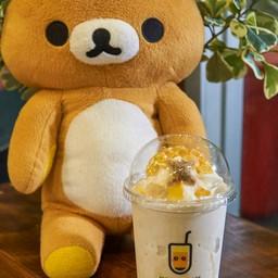 นมหมีปั่น + น้ำผึ้ง