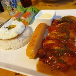 ข้าวสเต็กไก่เทอริยากิ
