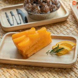 รสหวานอมเปรี้ยวของส้มแมนดารินและแยมส้ม พอรวมกับแป้งเค้กนุ่มฟู กลมกล่อมแบบสุด ๆ