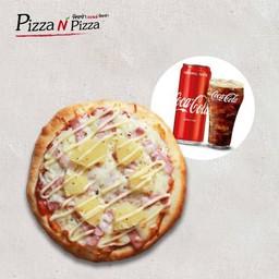 [อร่อยซ่ากับโค้ก] Combo Hawaiian (Buddy size) + Coca Cola