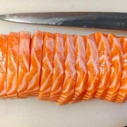 Grease Salmon 🐟แซลมอนเกรดพรีเมียม (ไม่แช่แข็ง) 🧡 4289🧡
