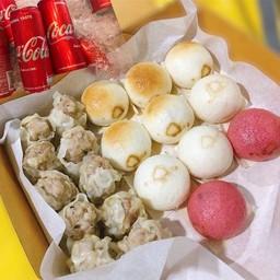 [อร่อยซ่ากับโค้ก] ชุดมินิ 10 ชิ้น & ขนมจีบหมูผสมกุ้ง 10 ชิ้น คู่กับ โค้กกระป๋อง