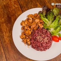 ผัดเห็ดอกไก่พริกไทยดำ