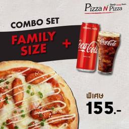 [อร่อยซ่ากับโค้ก] Combo Seoul Spicy Sausage (Family size) + Coca Cola