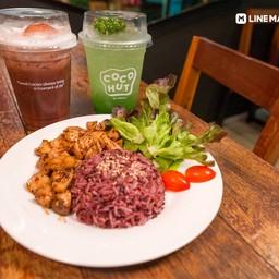 ลด 40% เมื่อสั่ง ผัดเห็ดอกไก่พริกไทยดำ + กีวี่โมฮิโตะ เพียง 99.- (จากปกติ 164.-)14