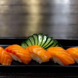 Salmon 5 คำ (ร้านฮาชิ-โกซูชิ)