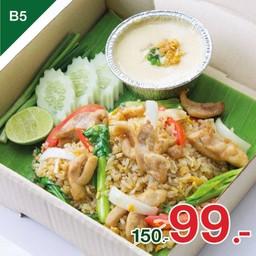 ข้าวผัดไก่หอมกระทะ+ไข่ตุ๋นนุ่มสไตล์ญี่ปุ่น