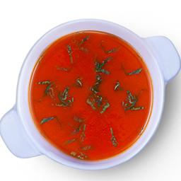 ซุปมะเขือเทศและโหระพา [มังสวิรัต]