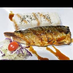 Kindeeปลาซาบะย่าง&แซลมอนย่าง
