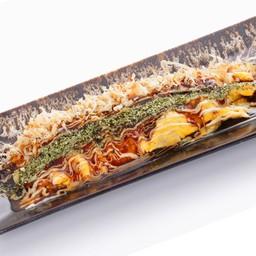 Tonpei-Yaki ไข่เจียวห่อหมู ย่างกระทะร้อน