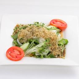 Mizuna to Jako no Salad สลัดผักมิซุนะโรยปลาข้าวสาร