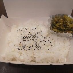 ข้าวญี่ปุ่น ผักดอง