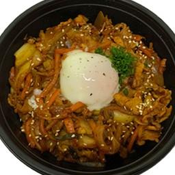 Pork and Kimchi rice bowl(豚キムチ丼)
