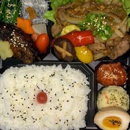 ginger grilled pork bento(生姜焼き弁当)