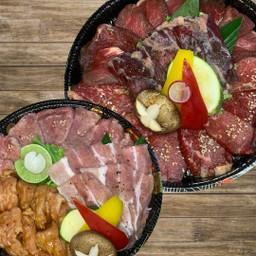 Ginryu  BBQ Set.(Tonguerow.Beefkarubi.Beeflion.BeefHarami.Porkvelly.Chickenneck)