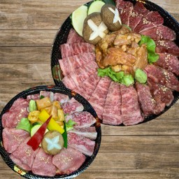 Special Wagyu BBQ SET( Tongue row.Special Beef Karubi.SpecialBeef Loin  Special BeefHarami.Beef Round intestine. Chicken neck)