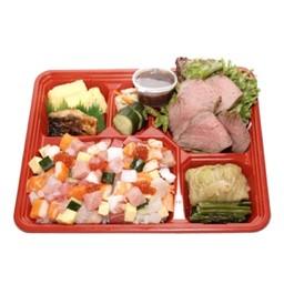 Bara Sushi Roast Beef Bento