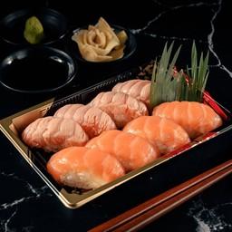 5 Salmon Sushi 8 Piece
