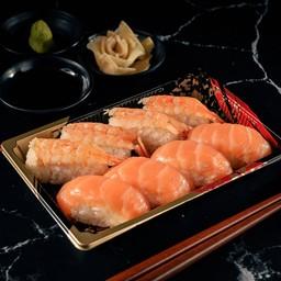 6 Shrimp & Salmon Sushi 8 Piece