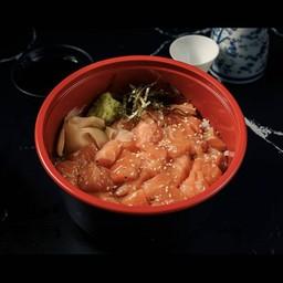 ข้าวหน้าปลาแซลมอนดอง