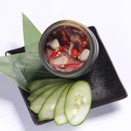 Shiokara mixed with spices