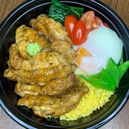 Teriyaki chicken steak rice bowl(照り焼きチキン丼)