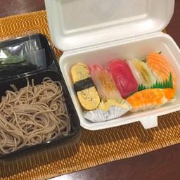 SUSHI Set meal B (Soba) ซูชิ B(โซบะ)