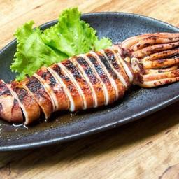 ปลาหมึกผัดซอทขิง