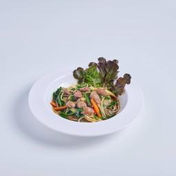 ดอกหอมผัดดุ่ยไก่ Sunagimo itamo