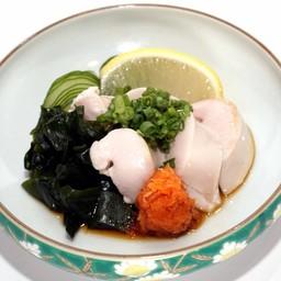 หำปลาแซลมอนราดซอสปอนสึ