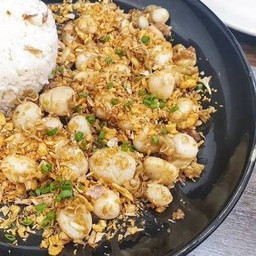 โคตรหอยเชลล์กระเทียม กับข้าว (no rice)