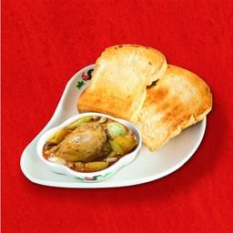 ข้าวหรือขนมปัง มัสมั่นไก่