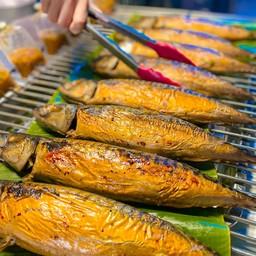 ปลาซาบะย่างใบตอง อุดรธานี