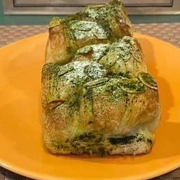 Matcha croissant loaf