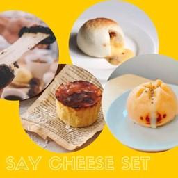 Say cheese set ( เปาชีสยืด 1, เปาชีสเบค่อน 1, เปาพิซซ่า 1, ชีสเค้กฮอกไกโด 1 )