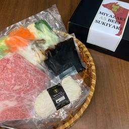 Miyazaki Beef A5 Sukiyaki set (for one person) 宮崎牛A5すき焼きセット(1人前)
