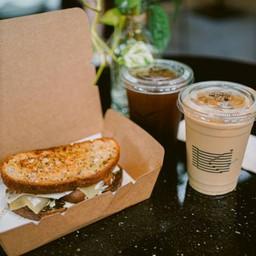 Roasted Mushroom & Black Garlic Sourdough Sandwich